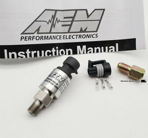 NEW AEM 150 PSIg Sensor Kit Stainless Fuel Pressure Oil Pressure etc 30-2130-150