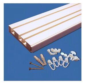 Vorhangschiene Deckenschiene Schienensystem Basic 3-Lauf inkl. Montagezubehör