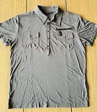 Royal Underground Men's Gray Short Sleeve Polo Shirt Sz L