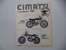 advertising Pubblicità 1970 MOTO CIMATTI KAIMAN CROSS 50 48/KAIMAN 175 CROSS