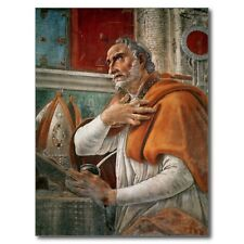 """*Postcard-""""Saint Augustine"""" ...in His Cell-"""