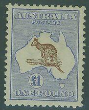 SG 15 £1 Brown & Blue Kangaroo 1st Watermark MLH