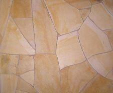 crema Polygonalplatten 50 m² Naturstein Terrassenplatten Fliesen
