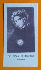 Santino Holy Card: San Nicola da Tolentino - Agostiniano