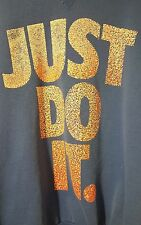 VINTAGE Nike PRE-OWNED Just Do It Size XL Blue Sweater