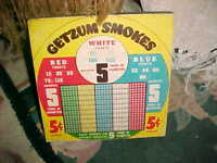 VTG PUNCH OUT BOARD GAME , GETZUM SMOKES GAMBLING,  GREAT FOR MAN CAVE