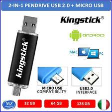 Pendrive usb 2.0 chiavetta 16 32 64 GB memoria micro OTG android smartphone 3.0
