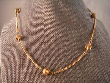 VINTAGE AVON TWISTED KNOT GOLD TONE NECKLACE JEWELRY BOX I