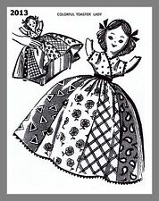 Vintage Mail Order Design  Colorful Toaster Lady Doll sewing pattern # 2013