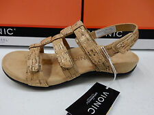 VIONIC W/ ORTHAHEEL TECHNOLOGY WOMENS SANDALS AMBER GOLD CORK SIZE 9