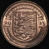 1923 | Jersey George V One Twentyfourth Of A Shilling | Bronze | KM Coins