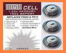 3 x Battery Original WeinCell MRB 625 1,35 V zinc/air - Replaces PX625 PX13 MR9