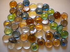JOBLOT 100 GLASS NUGGETS STONES  MIXED COLOURS VASES FISH TANKS WEDDINGS