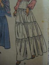 Vintage 1970's Butterick 5976 TIERED FLOOR-LENGTH SKIRT Sewing Pattern Women