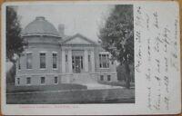 1906 Postcard: Carnegie Library-Paxton, Illinois Ill IL
