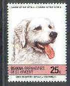 Hungarian Kuvasz Dogs Grenadines Mnh stamp
