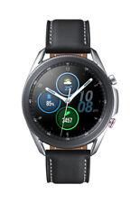Samsung Galaxy Watch3 SM-R845 45mm Cassa in Acciaio inossidabile Mystic Silver con Cinturino in Pelle Nero (4G) - SM-R845FZSAEUB