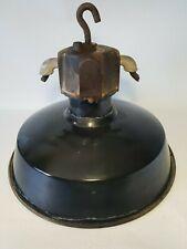 💡 ancienne lampe suspension industrielle tole émaillée atelier, usine, loft