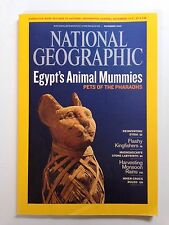 National Geographic Magazine November 2009 Egyptian Pets, Syria, Kingfishers
