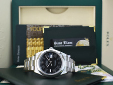 ROLEX 41mm Mens Stainless Steel DateJust II Black Roman Dial 116300 SANT BLANC