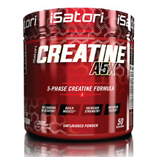 Creatine A5x Muscle Strength Performance Recovery Unflavored 50 Servings