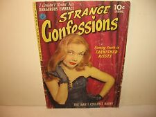 """""""Strange Confessions"""" #1 Jan.'52 """"The Man I Couldn'T Marry"""" -Spicy Cover!"""