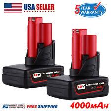 2xFor Milwaukee M12 48-11-2460 LITHIUM 48-11-2412 XC 6.0 Extend Cordless Battery