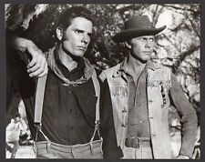 TOM TRYON & HARVE PRESNELL 1965 western VINTAGE ORIG PHOTO handsome actors