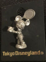 New Disneyland Tokyo Disney Mickey Mouse Playing Tennis Pin Lapel