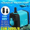 600-3000L/H Wasserpumpe Tauchpumpe Aquarium Pumpe Fisch Teich Sumpf Brunnen