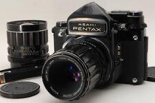 【EXC+++】 Pentax 6x7 67 TTL Mirror UP w/ 75mm F4.5,135mm F4,Strap from JAPAN #936