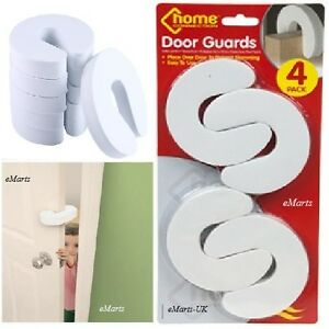 4 FOAM DOOR GUARD FINGER PROTECTOR JAMMER STOPPER BABY CHILD KIDS SAFETY GUARDS