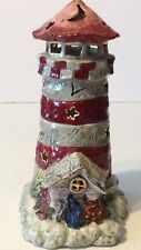 Lighthouse Tealight Candle Holder Decoration Nautical Beach By Kimberly Designs