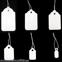 NEW WHITE STRUNG PRICE LABELS TIE ON TAGS Ideal for Jewelry,Gifts,watches,Rings