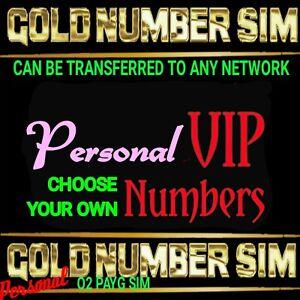 VIP Gold Number Sim Easy Memorable Personal Platinum 02 CHOOSE YOUR OWN NUMBER