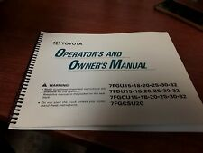 Toyota Forklift Operators and Owners Manual 001126-C AU021-6