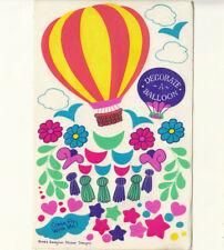 Rare Vtg 80's Sandylion Decorate a Balloon Maxi Sticker Sheet Star Flower Tassle