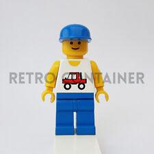 LEGO Minifigures - 1x trc002 - Trucker - Town Omino Minifig Vintage 6395 6660