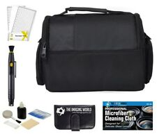 Camera Bag Case + Accessories Bundle for DSLR, Mirrorless, Compact Cameras/Lens