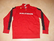 Official TEAM NFL Atlanta FALCONS Zippered EMBROIDERED  Sweatshirt NEW .  LARGE