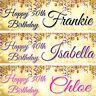 2 personalised birthday banner children adults kid party poster decoration