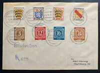 1946 Neustadt Germany Allied French occupation Cover To Hamburg