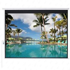 100'' 4:3 Projection HD Movie Theater Screen Electric Remote Control Matte White
