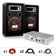 DJ PA Anlage Paar Lautsprecher Boxen Endstufe 1000w Party Keller Sound System