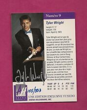RARE 1991 PREMIERE EDITION TYLER WRIGHT AUTOGRAPH GOLD 155/333  (INV#6596)