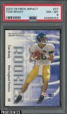2000 Skybox Impact #27 Tom Brady New England Patriots RC Rookie PSA 8