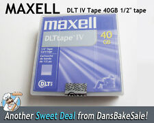 "Maxell DLT IV Tape 40GB 1/2"" Tape - Lot of 2 Tapes - New Sealed"