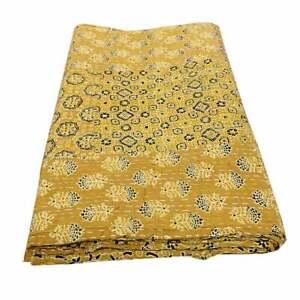 Kantha Ajrakh Ethnic Bedspread Indian Hippie Boho Handmade Kantha Vintage Quilt