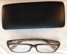 John Varvatos V307 Eyeglasses 55-12-140 Tan Horn Made in Japan + Case