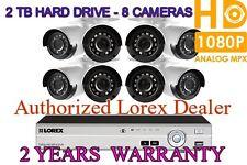 Lorex 2TB 8CH Security Camera System 8 HD Night Vision 1080P Cameras 2YR WARRNTY